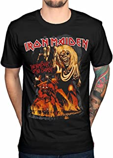 6b3b6a817 Official Iron Maiden Final Number of The Beast Graphic T-Shirt Rock Metal  Hermit Vortex