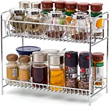INDIAN DECOR -Tier Kitchen Countertop Organizer Holder Rack for Spice Jar, Can, Bottle and More (Chrome)