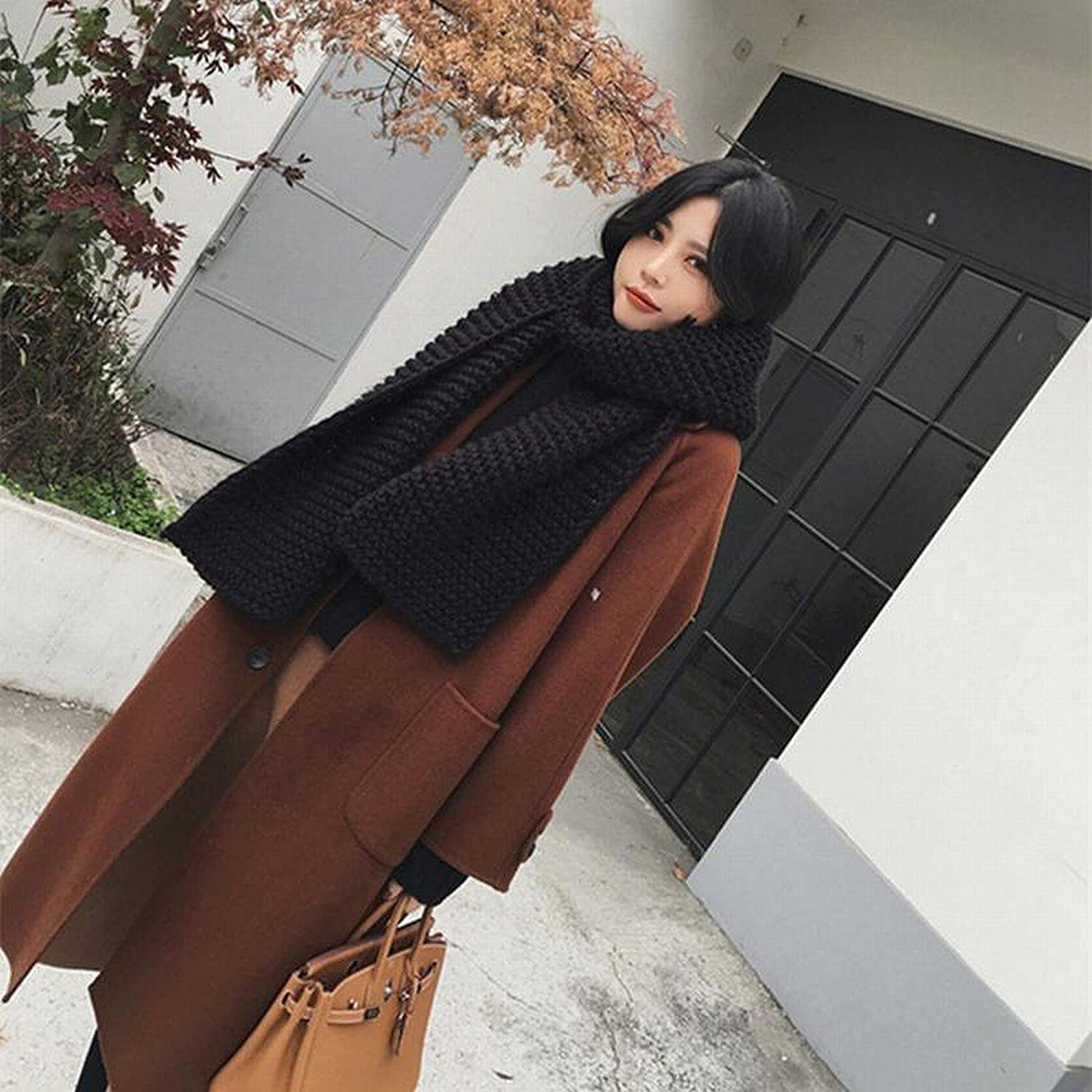 DEED Women's CoatFashion Woolen Coat in The Long Paragraph Loose Loose Knee Jacket Winter Clothes