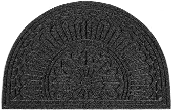 Mibao Half Round Entrance Door Mat, 24 x 36 inch Winter Durable Large Heavy Duty Front Outdoor Rug, Non-Slip Welcome Doorm...