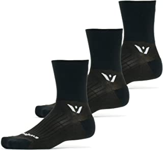 Swiftwick - PERFORMANCE FOUR 3 Pair Multi-Pack | Socks Built for Running and Cycling | Fast Drying, Cushioned Crew Socks