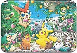 Large Puzzle Pokémon Tapis de bain en caoutchouc antidérapant pour sol de douche, salon et buanderie 60 x 40 cm