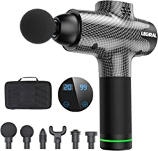 Massage Gun for Athletes, Portable Body Muscle Massager Professional Deep Tissue Massage Gun for Pain Relief with 6 Massag...