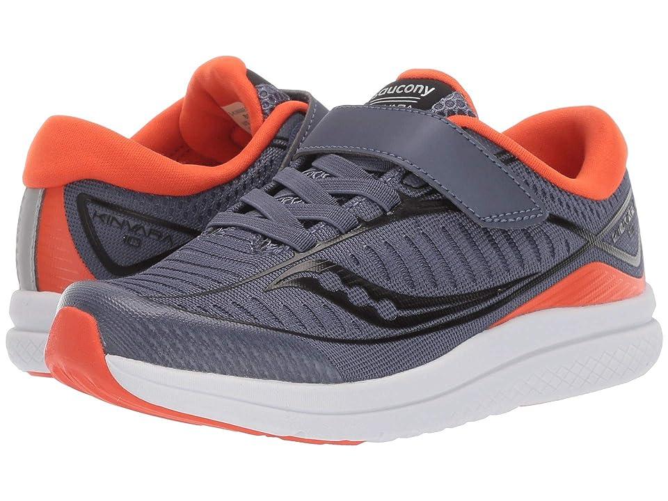 Saucony Kids Kinvara 10 A/C (Little Kid) (Grey/Orange) Boys Shoes
