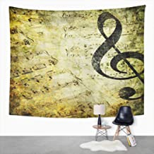 Suklly Tapestry Wall Hanging Beige Music Musical Vintage Green Antique Sheet Abstract Aged Black Blank Book Home Decor Polyester Living Bedroom Dorm 50 X 60 Inches Picnic Mat Beach Towel Bed Cover