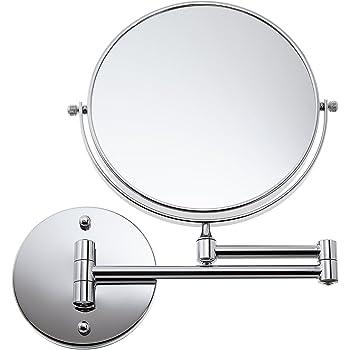 Auxmir Kosmetikspiegel mit LED Beleuchtung und 1-// 5-facher Vergr/ö/ßerung aus Edelstahl Kristallglas und Messing f/ür Badezimmer Spa und Hotel Kosmetikstudio
