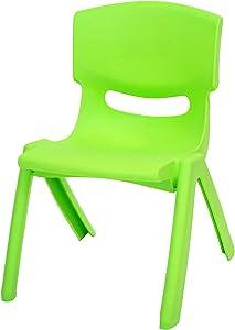 east2eden Hyginic plastica impilabile Kids Home Garden scrivania sedie