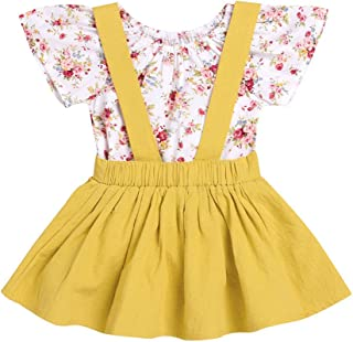 931bf1253a5 Kimanli Dress, Toddler Kids Baby Girls Solid Strap Skirt Overalls Clothes