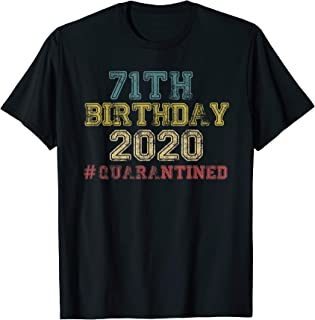 71 Years Old Quarantined 2020 - Awesome Sine 1949 Gifts T-Shirt