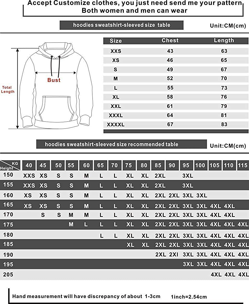 Fabby Unisex 3D Printed Hoodies Sweatshirt Pockets