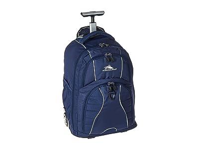 High Sierra Freewheel Wheeled Backpack (True Navy) Backpack Bags