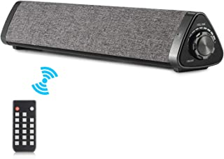 Koolertron サウンドバー サウンドバースピーカー Bluetoothワイヤレスサウンドバースピーカー テレビ PC タブレット用ホームシアター PCスピーカー