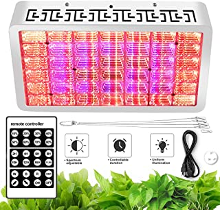 1000W LED Grow Light - Intelligent Remote Control, Automatic Cycle Timing, 8-Level Dimming, Full-Spectrum, Multiple Spectral Combinations to Suit The Growth of Different Plants at All Stages