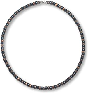 Black Brown Wood Coco Shell Bead Surfer Necklace Choker - 5mm (3/16