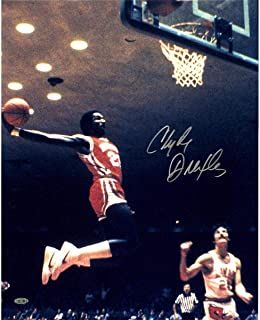 Clyde Drexler University Of Houston Signed Dunking 16x20 Photograph - Steiner Sports Certified - Autographed NBA Photos