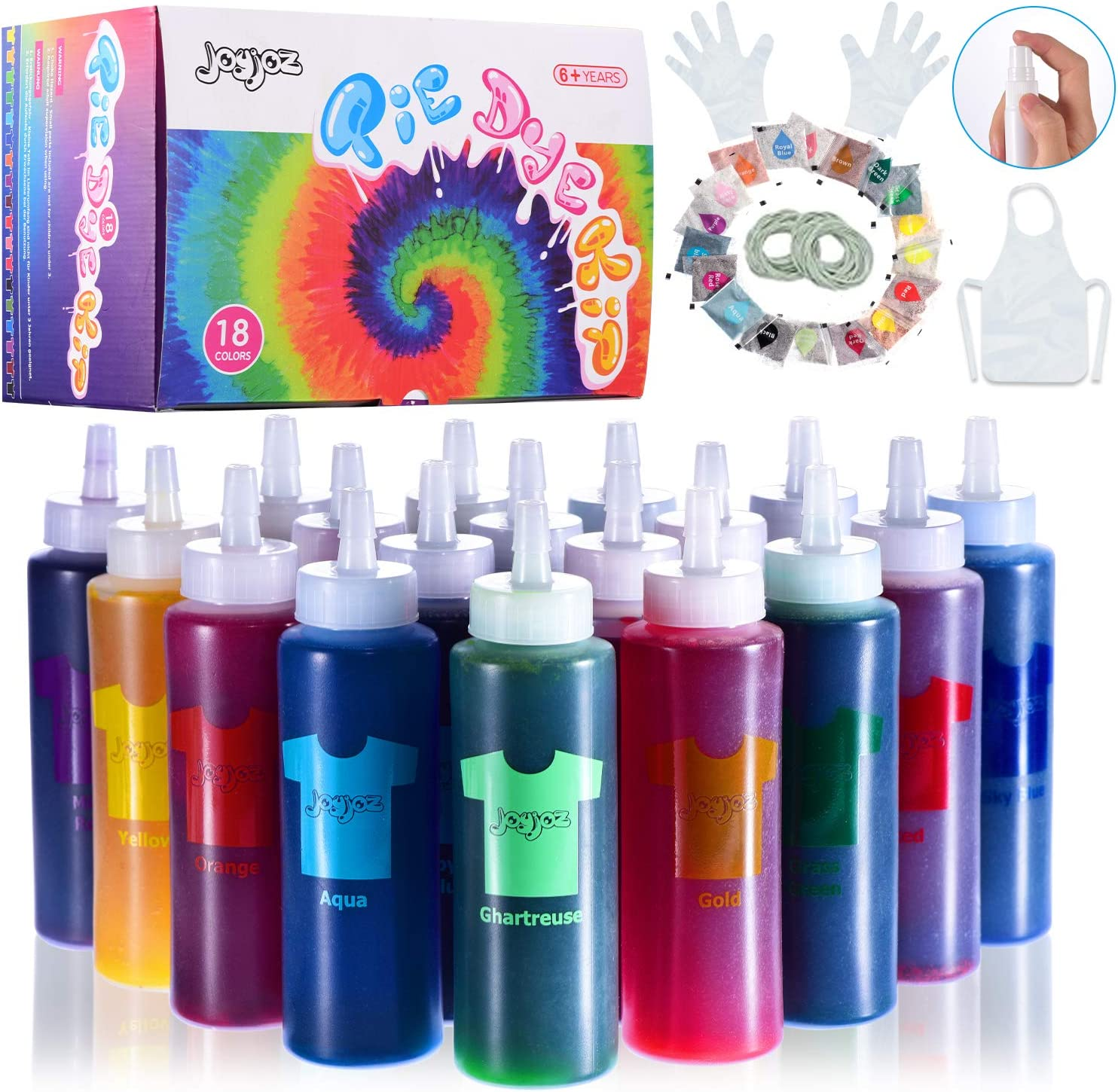 Joyjoz Tie Dye Kit 36 Bags Pigment OFFer Tye Max 52% OFF Colors for Ad 18