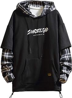 Japan Style Patchwork Hoodies Men Characters Streetwear Hoodie Men Sweatshirt