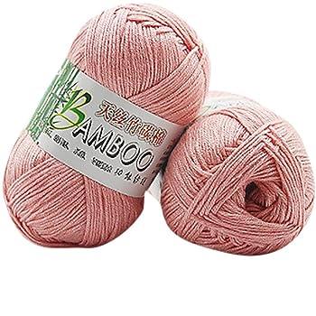 gaddrt Multicolor Crochet lana 30% algodón 70% bambú fibra de ...