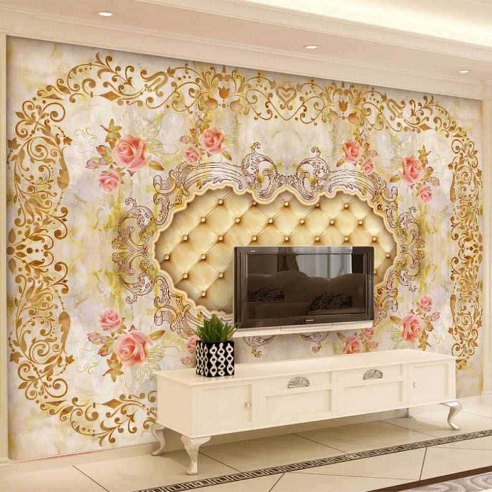 European Style Marble Wallpaper 3D 5 ☆ very popular Murals Livi Soft Flowers Raleigh Mall Roll