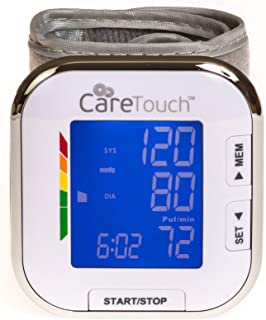 Care Touch Fully Automatic Wrist Blood Pressure Cuff Monitor – Platinum Series,..