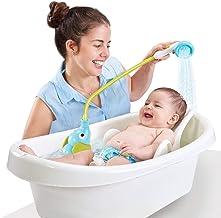 حمام دوش حمام Yookidoo - پمپ آب شیرین و صندلی ترمو برای نوزادان نوزاد در حمام یا سینک