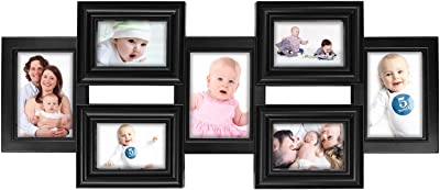 Jerry & Maggie - Photo Frame 34x13 White Picture Frame Selfie Gallery Collage Wall Hanging for