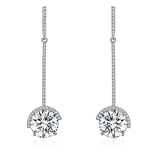 227ff6be4 SBLING Platinum-Plated Drop Earrings Made with Swarovski Crystals (9 cttw)