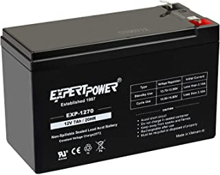 ExpertPower 12v 7ah Rechargeable Sealed Lead Acid Battery || EXP1270|| Replaces TEMPEST 12V7.5AH,TR7.5-12A,TR7.2-12A RAZOR...