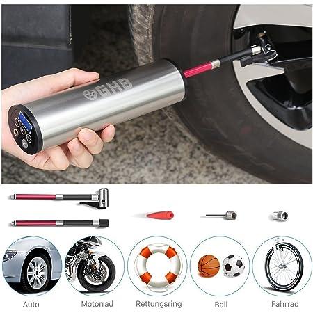 Househome Auto Luftpumpe Elektrischer Kompressor Tragbare Reifenpumpe Drahtlose Luftpumpe Mit Notbeleuchtung Multifunktions Intelligente Drahtlose Pumpe Schwarz Küche Haushalt