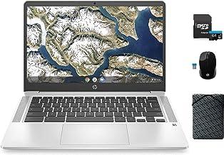 "HP Chromebook Laptop, 14"" FHD Screen, Intel Celeron N4020 Processor, 4GB RAM,64GB eMMC, Webcam, Microphone, WiFi, Bluetoot..."