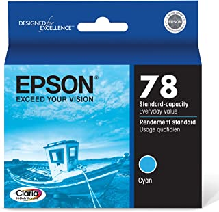 Epson T078220 Artisan 50 Stylus Photo R260 280 380 RX580 595 680 Ink Cartridge (Cyan) in Retail Packaging
