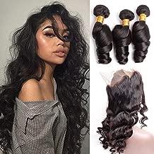 Mink Hair 360 Frontal with Loose Wave 3 Bundles 24