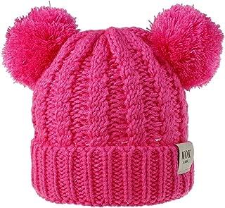 MODNTOGA Infant Toddler Baby Winter Knitting Woolen Hat Warm Double Pom Pom Boys Girls Beanie Cap