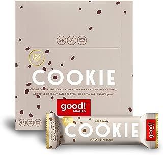 good! Snacks Vegan Cookie Dough Protein Bar | Gluten-Free, Plant Based, Low Sugar, Kosher, Soy Free, Non GMO | 15g Protein (12 Bars)…