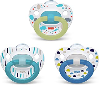 NUK Orthodontic Pacifier Value Pack, Boy, 0-6 Months (Pack of 3)