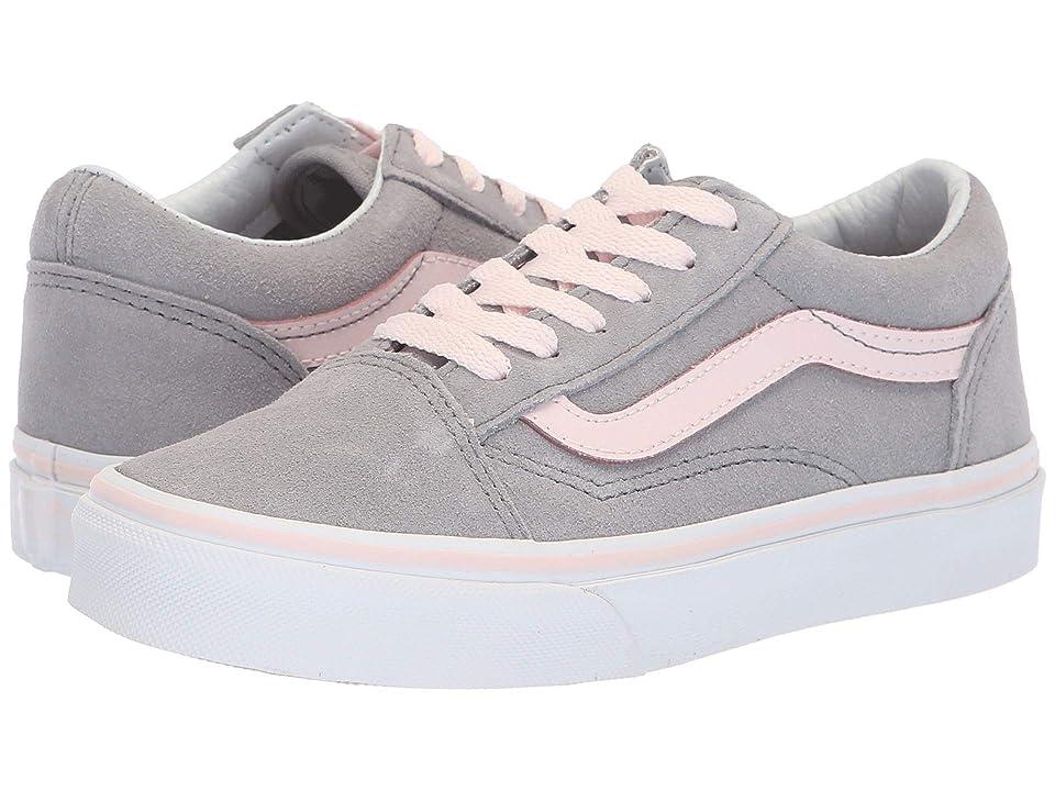 Vans Kids Old Skool (Little Kid/Big Kid) ((Suede) Heavenly Pink/True White) Girls Shoes