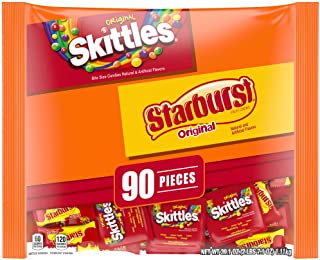 SKITTLES and STARBURST Original Fun Size Candy, 39.1-Ounce 90 Pieces