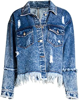 ZDLilian Autumn Ladies New Loose Bf Wind Denim Jacket Jacket