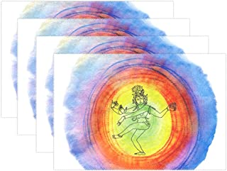 ENEVOTX Shiva Religion Hinduism India Poster Worship Placemats Set Of 4 Heat Insulation Stain Resistant For Dining Table Durable Non-slip Kitchen Table Place Mats