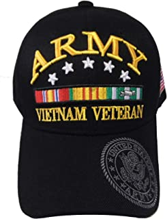 Army Strong Men's U.S. Army Vietnam Veteran Hat Military Baseball Cap