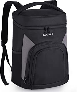 ADRIMER Backpack Cooler Leakproof Insulated Cooler Backpack Soft Lunch Cooler Bag for Men Women to Work, Fishing, Picnics, BBQ, Hiking Hunting or Day Trips, 35L, 26 cans, Black