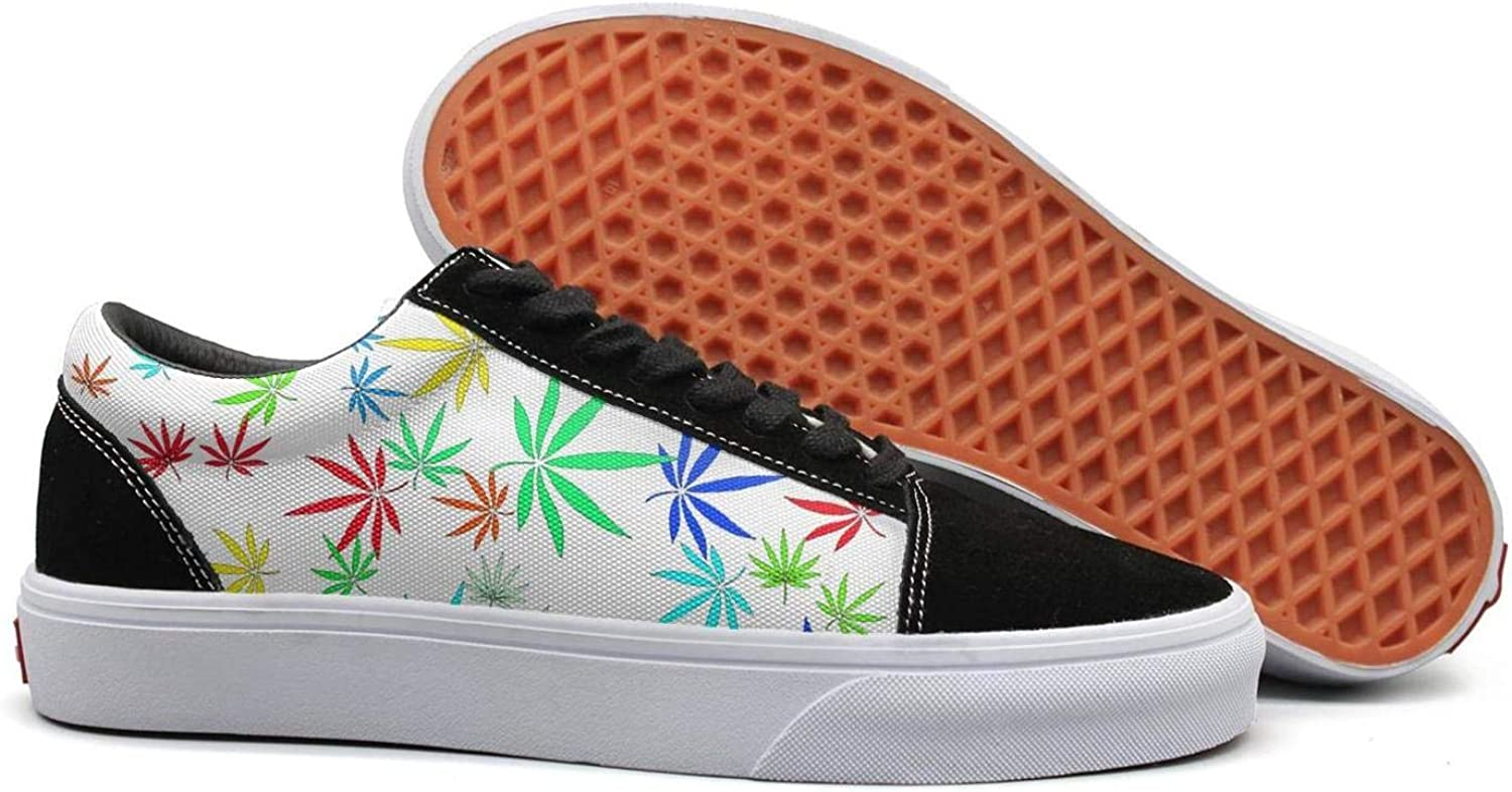 Weed Marijuana Cannabis Leaves Womens Lace up Loafers shoes Canvas Upper