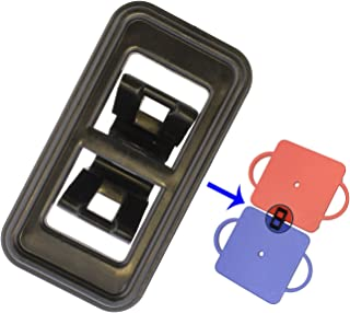 """Get Out! Manual Scooter Board Short Plastic Connection Clips 2-Pack – 3.5"""" Inch Length to Link Together for Kids Gym"""