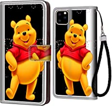DISNEY COLLECTION Wallet Case with Strap Winnie The Pooh Wallet Case with Card Holder Compatible for iPhone 11 Pro 6.1 Inch Fashionable