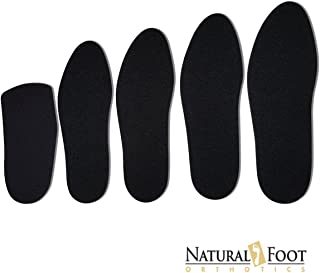 Natural Foot Orthotic Cushions, Natural Sponge Rubber Cushions with a Nylon Covering Perfect to be Worn Over Orthotic Arch Support Insoles. Mens Size 12