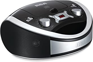 RCA Portable Stereo CD Boombox Home Audio Player - Digital AM/FM Radio, Black (RCD331BK)