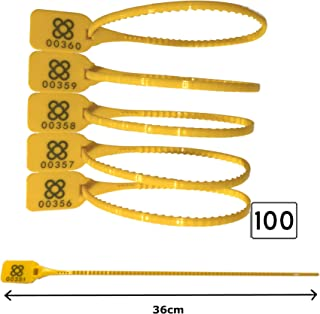 PRECINTO DE SEGURIDAD 100 unidades | LARGO: 36cm Precintos