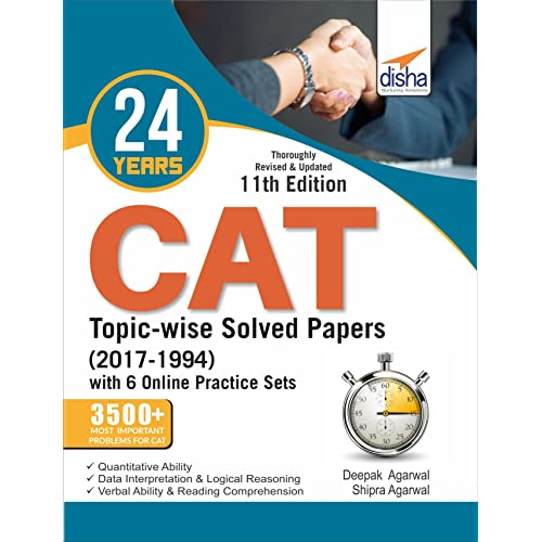 24 years CAT Topic-wise Solved Papers (2017-1994) with 6 Online Practice Sets 11th edition