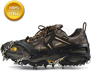 Weanas Unisex Multi-Function Anti-Slip Ice Cleat Shoe Boot Tread Grips Traction Crampon Chain Spike 1 Pair