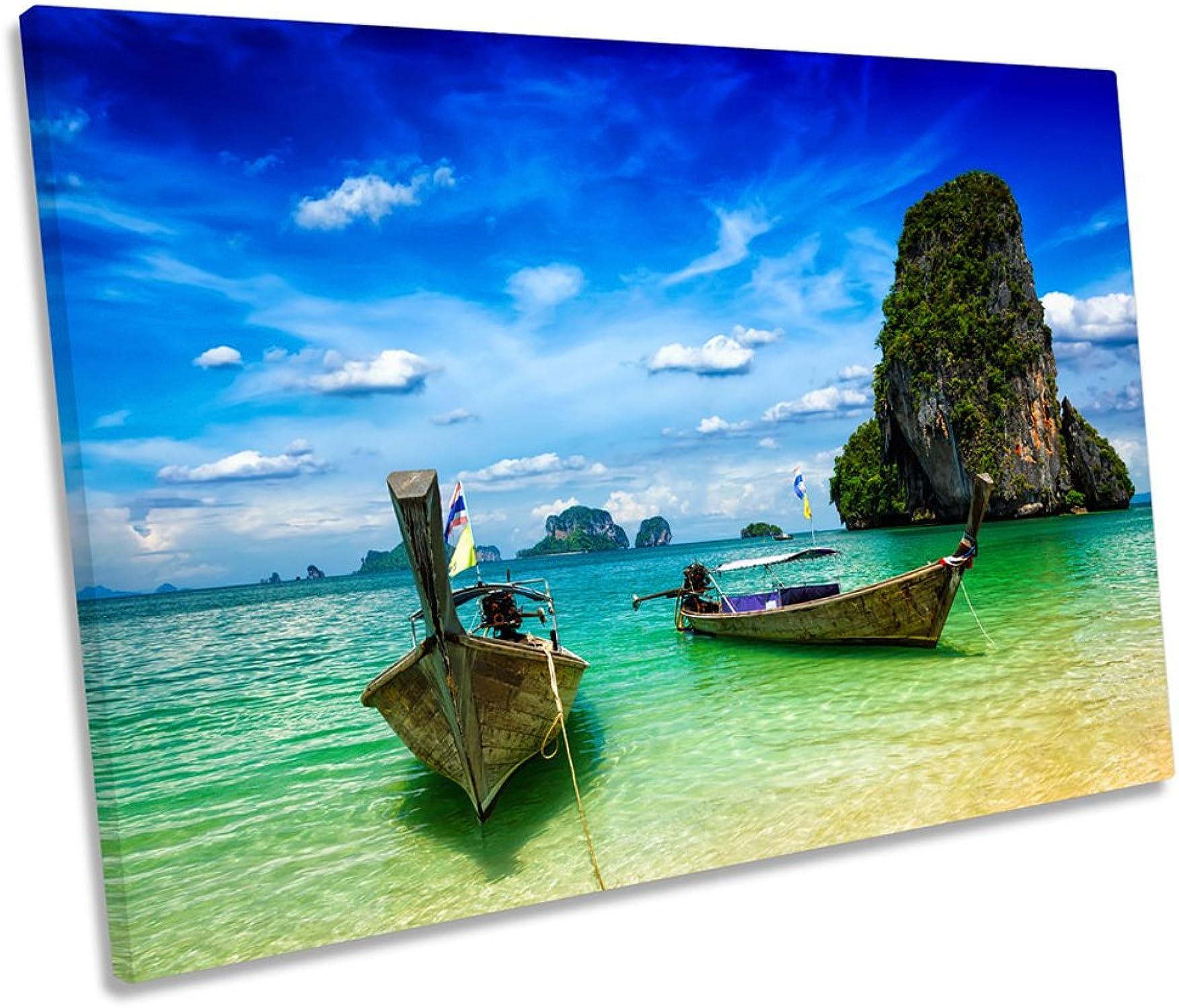 forma única Canvas Canvas Canvas Geeks Impresión de Lienzo con diseo de Playa de Tailandia Krabi Single, 60cm Wide x 40cm High  ahorra 50% -75% de descuento
